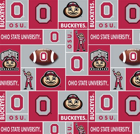 joann fabric printable application ohio state university ncaa block fleece fabric jo ann