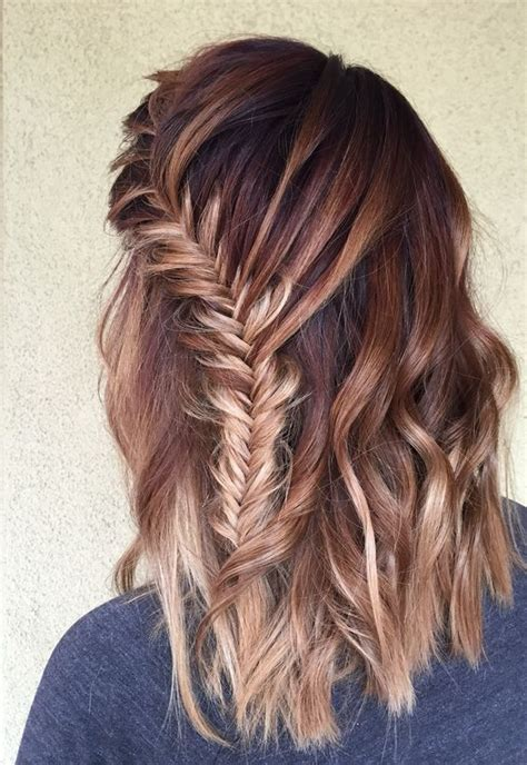 pinterest long curly fishbone tail picture with red curly hair how to fishtail braid super easy fishtail braid tutorial