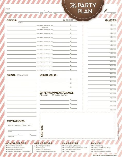event menu template event planning checklist including pre event quot to do quot list