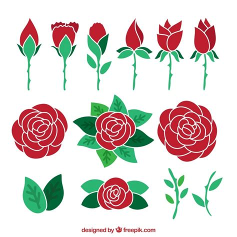 imagenes de flores dibujadas a mano surtido de rosas rojas dibujadas a mano descargar