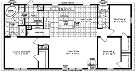 Mobile Homes Floor Plans by 3 Bedroom Mobile Home Floor Plan Bedroom Mobile Homes
