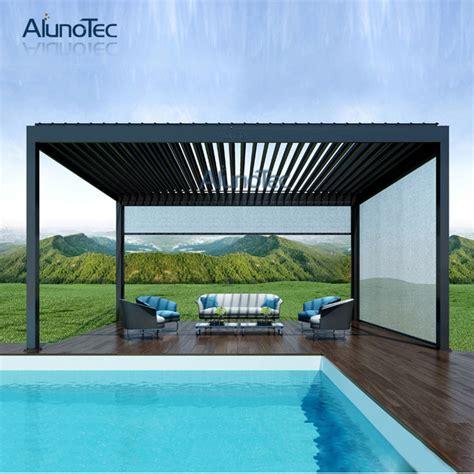 gartenpavillon aluminium wasserdichte pergola designs schwimmbad zelt pergola