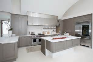 Painted kitchen cabinets ideas with gray color culthomes com