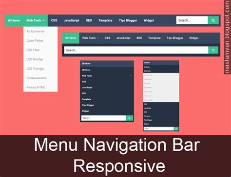 membuat drop down menu responsive membuat menu navigation bar responsive