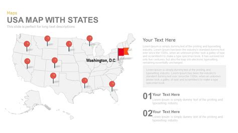 usa map states ppt usa map with states powerpoint and keynote template