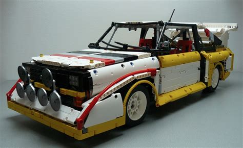 Lego Rally Car lego audi s1 quattro rally car the lego car