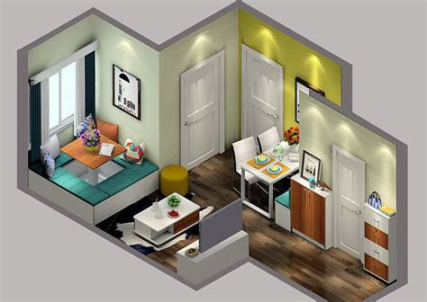 Small Homes Layout Small House Space Layout Sky View 3d House