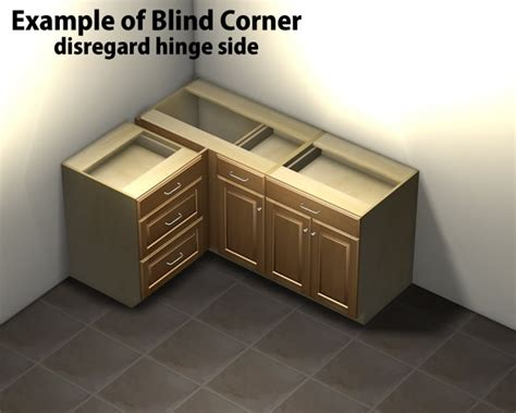 Tall Kitchen Cabinet by 1 Door 1 Drawer Blind Corner Base Cabinet Right