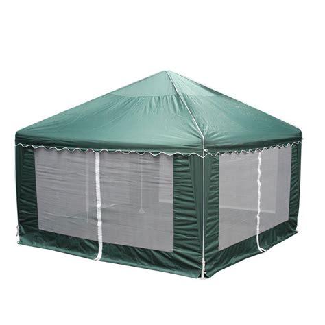 gazebo for cing king canopy garden 13 ft w x 13 ft d green gazebo