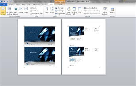 how to make a postcard in microsoft word printaholic