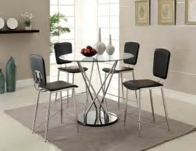 Bar Height Glass Dining Table Counter Height Glass Top Huelo Modern Table Set