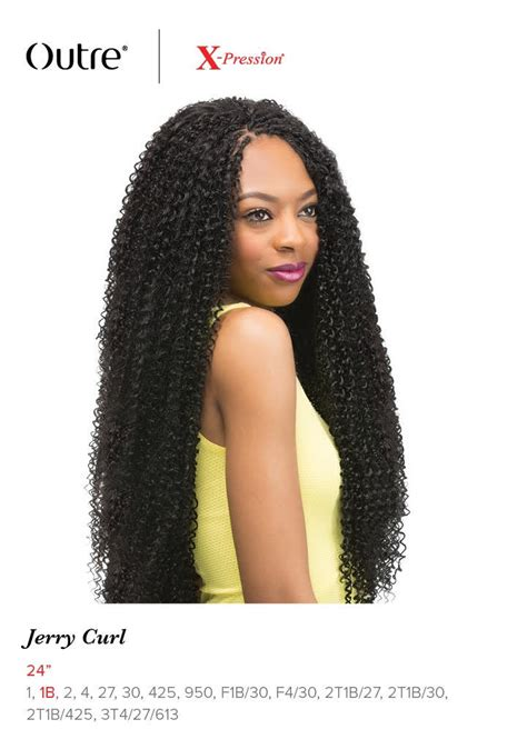 bijoux xpression kanekalon braiding hair jerry curl 24 quot braid outre x pression synthetic crochet