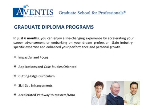 Aventis School Of Management Mba by Aventis School Of Management Graduate Diploma For