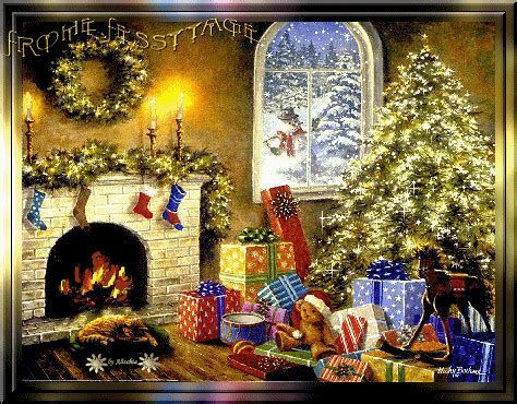 graphic christmas fireplace picgifscom