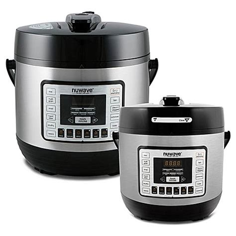 pressure cooker bed bath and beyond nuwave 174 electric pressure cooker in black bed bath beyond