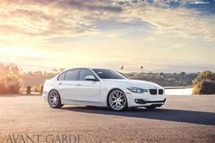 alpine white bmw f30 328i on avantgarde wheels