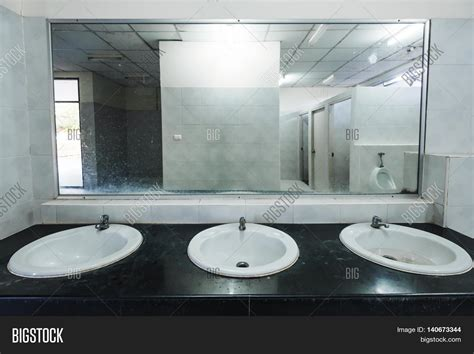 public bathroom mirror old dirty interior public restroom image photo bigstock