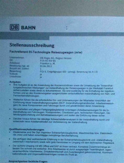 Bewerbungsschreiben Ausbildung Deutsche Bahn Gehaltsvorstellung Db Projekt Bau Mikrocontroller Net