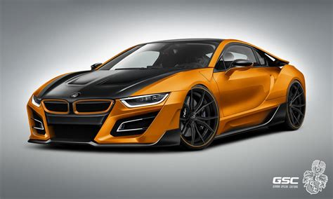 bmw i8 gold german tuner gives bmw i8 an itron makeover carscoops