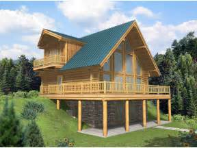 A Frame House Plans With Basement leola raised a frame log home plan 088d 0046 house plans and more