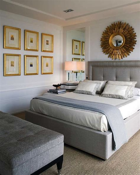 gray headboard transitional bedroom nuevo estilo