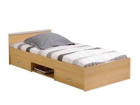 lit avec tiroirs et niche de rangement tom coloris h 234 tre