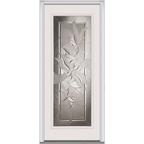 Fiberglass Entry Doors With Glass Masonite 32 In X 80 In Lite Primed Smooth