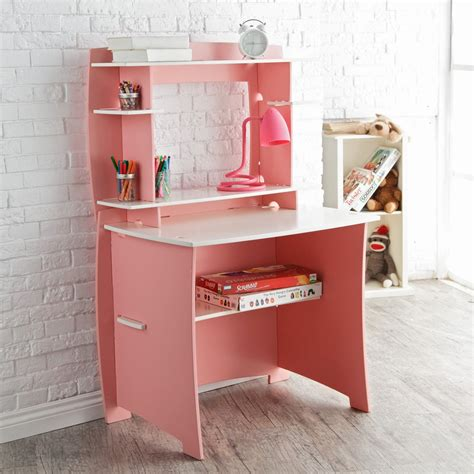 manhattan open computer desk with adjustable shelf white legare 36 in desk with hutch pink white desks