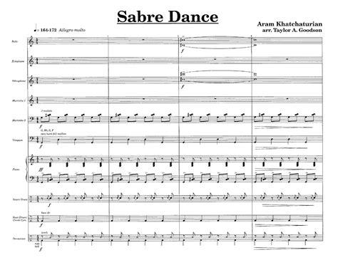 dance music xylophone sabre dance percussion ensemble 11 1 j w pepper