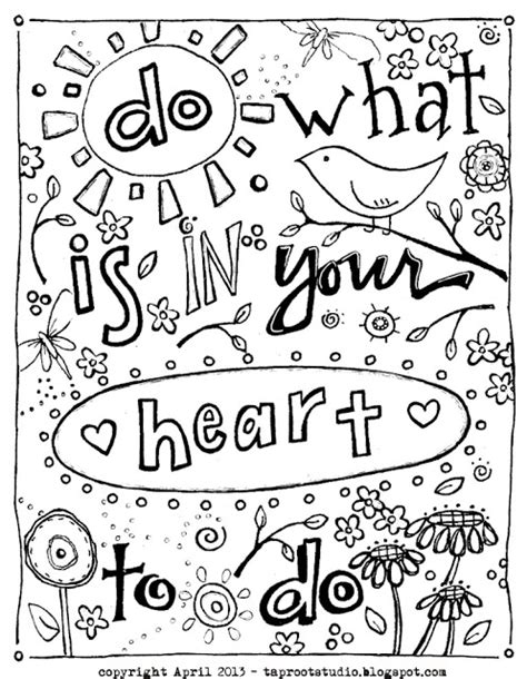 free coloring pages of inspirational quotes