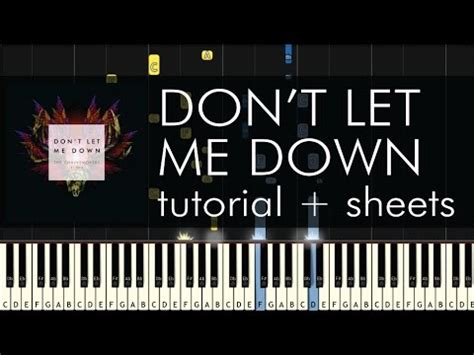 tutorial dance don t let me down the chainsmokers ft daya don t let me down piano