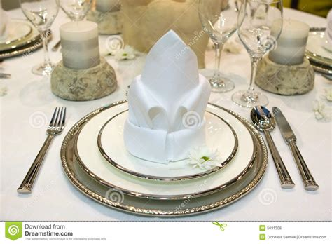 fancy table set for a dinner royalty free stock image fancy dinner royalty free stock photos image 5031308