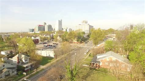 aerial footage downtown raleigh nc stock footage