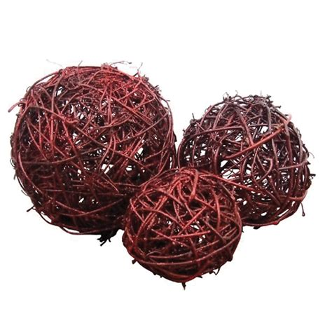 Decorative Balls For Bowls by Cheungs Fiber 4 5 Quot Medium Decorative Balls Orbs For Bowls Scarlet Figurines