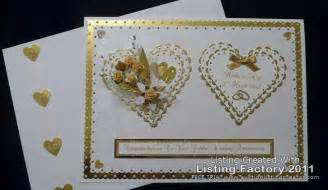 50th golden wedding anniversary card handmade personalised ebay