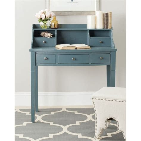 36 Writing Desk by Safavieh Landon 36 Quot Writing Desk In Teal Amh6516e