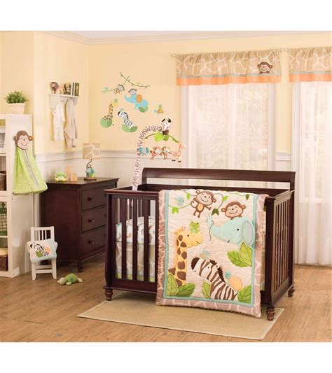 Carter S Jungle Play 4 Piece Crib Bedding Set Jungle Cot Bedding Sets