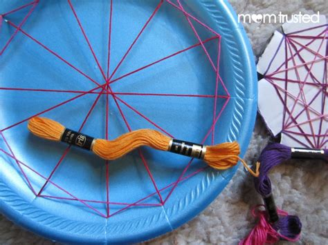 String Arts And Crafts - easy geometric string for preschoolerspreschool