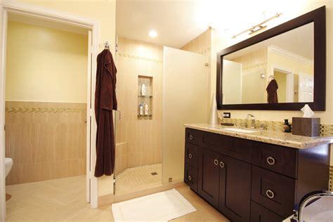 transitional master bathroom fresh remodel
