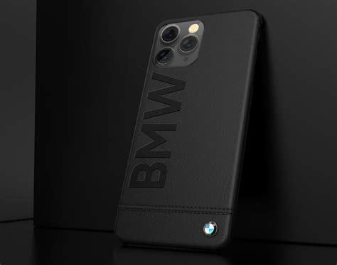 bmw  apple iphone  pro official racing leather case