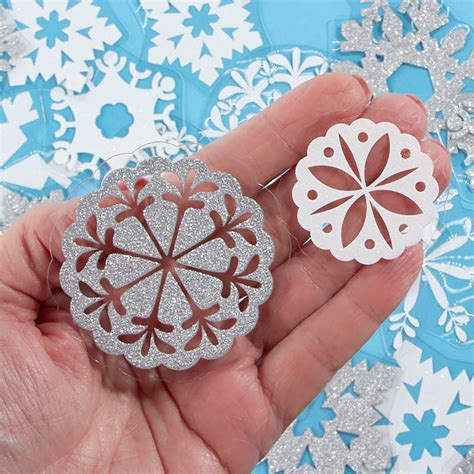 glittered snowflake embellishments holiday craft