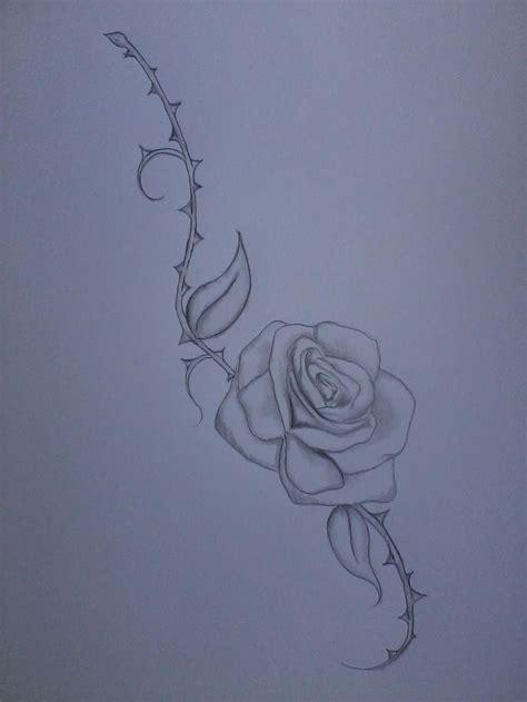 rose and stem tattoo tattoos wrist thighs design