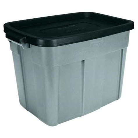rubbermaid 18 gal roughneck tote fg2215h2micbl the home