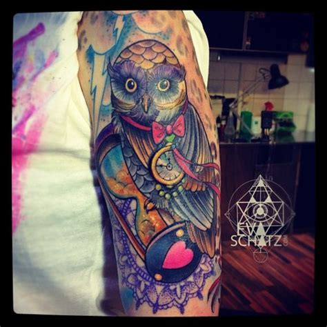 tattoo artists san francisco sleeve for of owl and swirls designs
