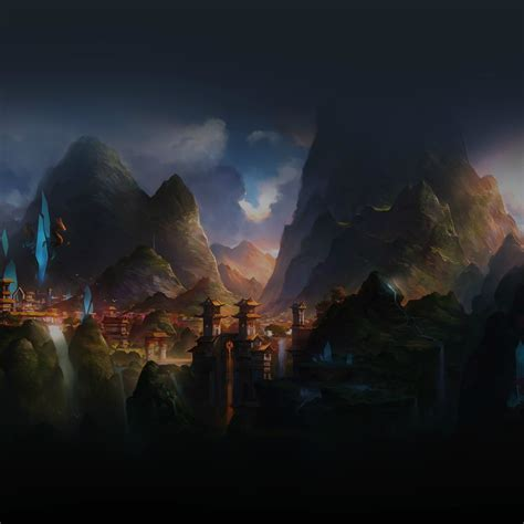 mountain art illust china anime peaceful ipad air