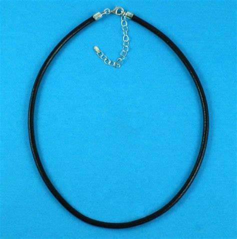 Sterling Silver Leather Necklace sterling silver leather necklace on jewellery world