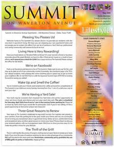 printed property management newsletters for condominium