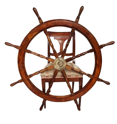 volante della nave volante della nave legno ottone ruota barca 121 centimetri