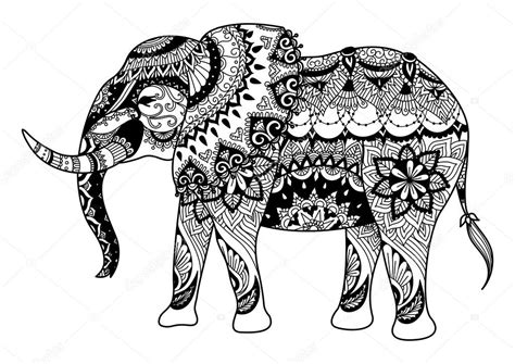elephant coloring pages aztec designs dise 241 o de elefantes mandala para tarjetas tatuaje dise 241 o