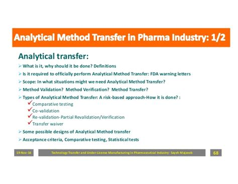 Mba In Pharmaceutical Marketing by Technology Transfer And License Manufacturing In